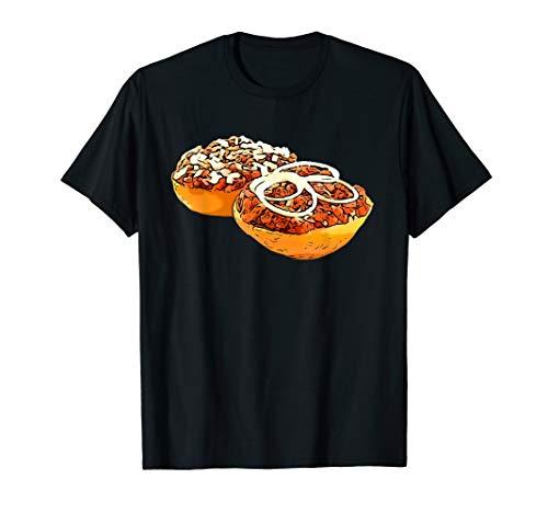 Mettbrötchen T-Shirt Mettbrot mit Zwiebeln lustig