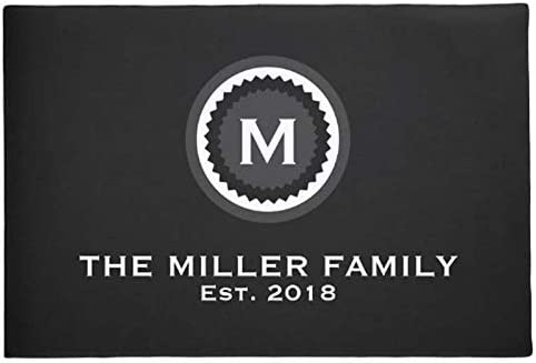 Opening large release Cheap mail order shopping sale Diatomaceous Earth Bath Mat Personalized Family Name Modern Dec