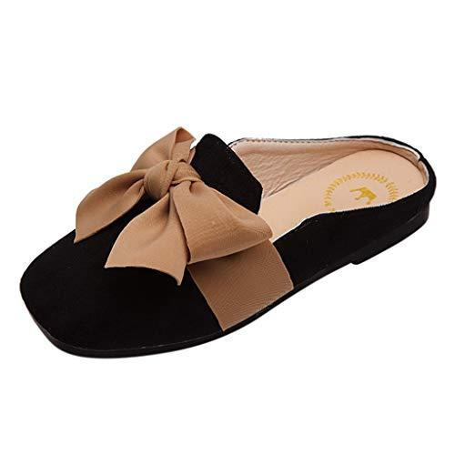H.eternal(TM) zapatos casuales cómodos para bebés, niños y niñas, zapatos casuales, sandalias cerradas para caminar, color Negro, talla M