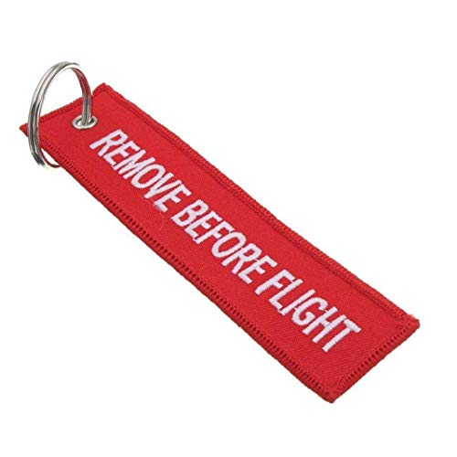 5 Pcs Remove Before Flight Keychain Luggage Tag Multipurpose Double Sided Embroidery Aviation Keychain Traveler Pilot Cabin Crew Baggage Tag Utilities Practical Tool