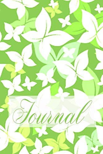 Journal: Beautiful Pretty Elegant Butterfly Art Chartreuse Lime Green Softcover Diary Notebook   100 Cream Lined Writing Pages   Fluttering Butterflies Nature Design