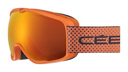 Cébé Unisex Jugend Artic Skibrillen Orange Black Dots Small
