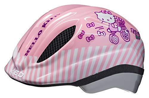 KED Meggy Originals XS Hello Kitty - 44-49 cm - inkl. RennMaxe Sicherheitsband - Fahrradhelm Skaterhelm MTB BMX Kinder Jugendliche