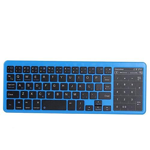 Allamp Multi-función Bluetooth del ratón del Teclado Función de Carga del Tesoro Touchpad Mini Teclado Bluetooth de retroiluminación del Teclado táctil Número