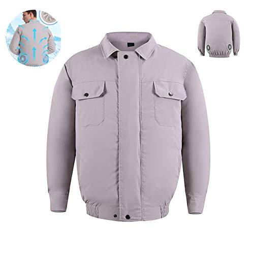NINI Außenventilator Kühl Jacke, Kühl Jacke Ventilator, Klimaanlage Kleidung für High Temp Worker Unisex, Dual-Fan-Entwurf kann für einen Tag benutzt Werden,1,L