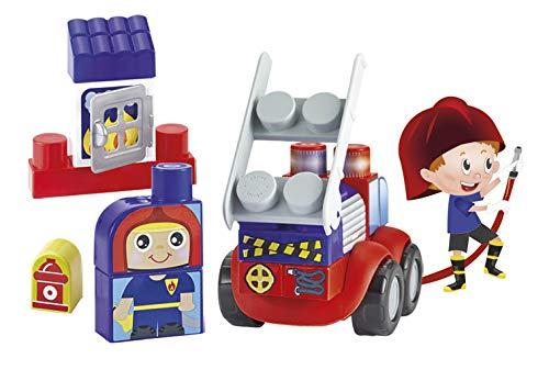 Jouets Ecoiffier -7801 - Boîte pompiers Abrick Maxi – Jeu de construction pour enfants – 25 pièces – Dès 12 mois – Fabriqué en France