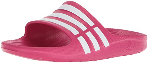 adidas Duramo Slide K, Scarpe da Spiaggia e Piscina Unisex-Bambini, Rosa (Roszum/Runwht 000), 32 EU
