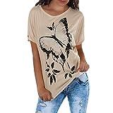 WTOUHE Mujer Tops, 2019 Camiseta de moda de verano Cuello redondo Tacones impresos Camisetas de...