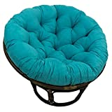 GWZSX Round Papasan Chair Cushion Waterproof Replacement Hanging Basket Chair Cushions with Ties Swing Chair Cushion for Outdoor Patio-120x120x15cm Blue