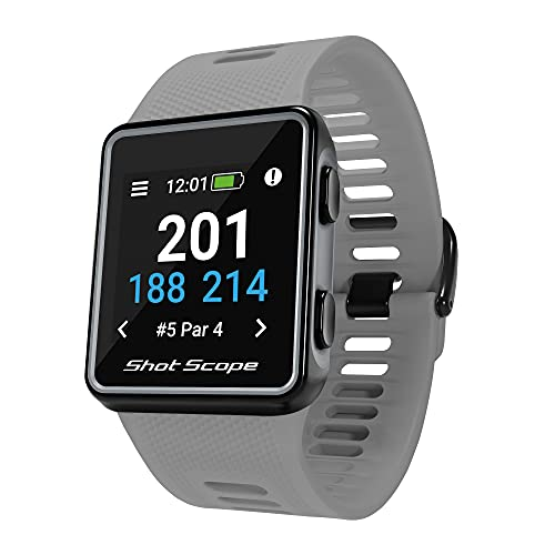 Shot Scope G3 GPS Watch - F/M/B + Hazard Distances - iOS and Android Apps -...