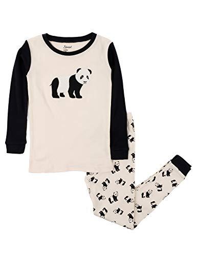 Leveret Kids & Toddler Pajamas Boys Christmas 2 Piece Pjs Set 100% Cotton (Panda, Size 2 Toddler)