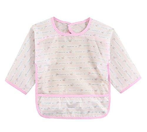 Soie Bébé Écharpe / coton bavoir enfant, 0-2 ans / rose