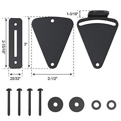 Product Image 5: WINSOON Barn Door Lock Hardware Black Steel Sliding Privacy Latch for Closet Shed Pocket Doors Wood Gates – Black