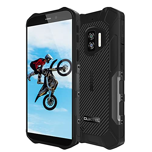 Telefono Móvil Resistente OUKITEL WP12, Android 11 4GB RAM+32GB ROM, 13MP+8MP Cámara con NFC Rugged Smartphone, 5.5''HD Impermeable IP68 Robusto, Batería 4000 mAh Dual SIM Antigolpes Movil Negro