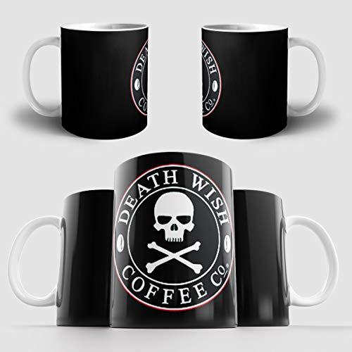 Death Wish Coffee | Coffee Mug | Ceramic 11Oz Coffee Mug | Tea Cup | Made In Usa
