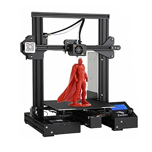 Creality Imprimante 3D Ender 3 Pro avec Bloc d'alimentation Meanwell Power Supply Certifié CE et Autocollant de Plaque de Mise à Niveau magnétique 220 * 220 * 250mm