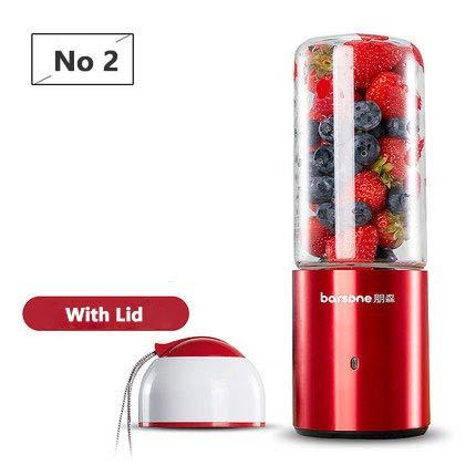 Mdsfe USB Blender Wiederaufladbare Entsafter Tasse Tragbare elektrische automatische Gemüse Fruchtsaft Maker Cup Saft Extraktor Mixer Flasche - mit Deckel
