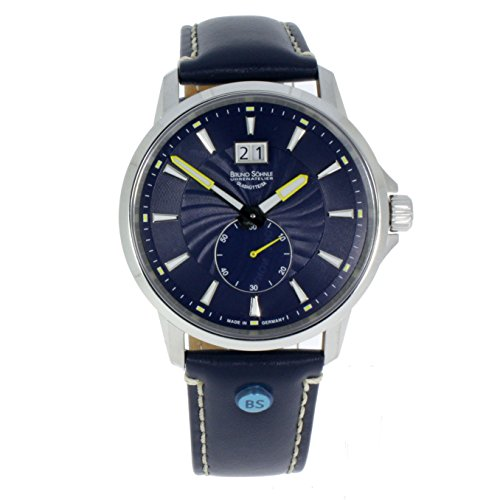 Bruno Söhnle Herren Analog Quarz Uhr mit Leder Armband 17-13158-341