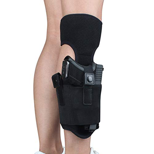 N \ A Ankle Holster for Concealed Carry, Universal Leg Carry Gun Holster with Magazine Pouch, Fits 9mm Handguns, Ruger LCP, S&W M&P 40 Shield Bodyguard, Ruger, Kahr, Beretta, 1911, etc