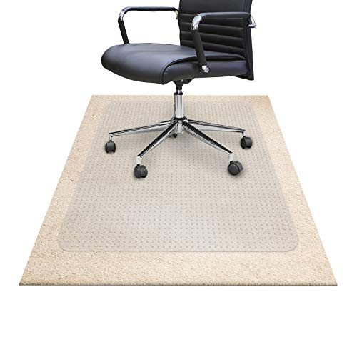 "Chair Mats for Carpeted Floors – Shatter-Proof Carpet Protector for Desk Chair | Eco-Friendly Office Chair Mat for Carpet | Clear - 30"" x 48"" (75 x 116 cm)"