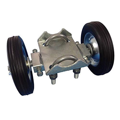 Rolling Gate 15,2 cm Radträger: für Kettenglieder, Zaun, Rolltore, RutRunner – 2 Gummiräder (Achse ist 15,2 cm von Rad zu Rad) hat Einstellschrauben zu