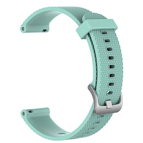 Correa de silicona de repuesto para reloj Garmin Vivoactive 3 Vivomove Vivomove HR para mujeres y hombres, correa de silicona universal