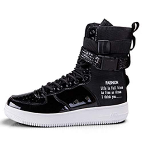 LJG Stiefel Casual Sneakers High Boots Hip Hop Schuhe MotorradStiefel Herrenmode Vier Jahreszeiten...