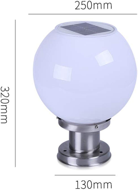 Solar Gartenlicht, LED Outdoor Spherical Super Bright Wasserdichter Landschaftszaun Lichtlampe (Farbe   A)