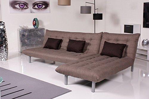 Kasper-Wohndesign Ecksofa Relax-Sofa Spirit Stoff (braun) Schlafsofa, 190 x 100 x 85 cm