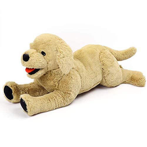 LotFancy Peluche Perro Golden Retriever 52,8cm, Peluches Grandes Tacto Suave, Seguro y Cómodo Juguete Mejor Regalo para Niños, Chicos, Parejas, Mascota