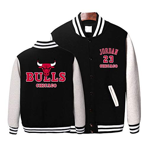 HEJX Bulls 23 Jordan Baseball Uniform Student Chaqueta Juvenil, Sudadera Pareja