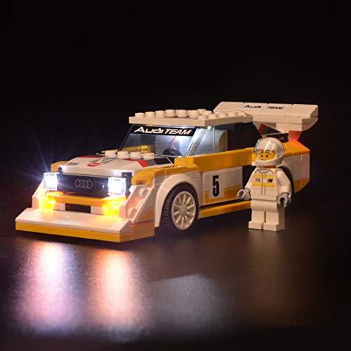 Kepae Kit Illuminazione Compatibile con Lego 76897, Luci Led per Seed Champions 1985 Audi Sport Quattro S1