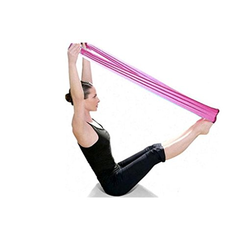 UIarma Fitnessbänder Übungsband Stretch Out Strap Pilates Yoga Workout Aerobic elastisch Dehnbaren Band Gurt (Rosa)