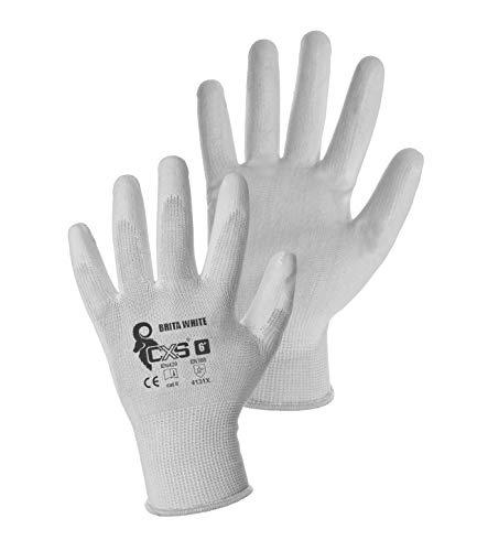 guanti da lavoro donna CXS Brita Guanti da lavoro (12 pezzi) – Antiscivolo Guanti di Montaggio senza cuciture – Massimo comfort