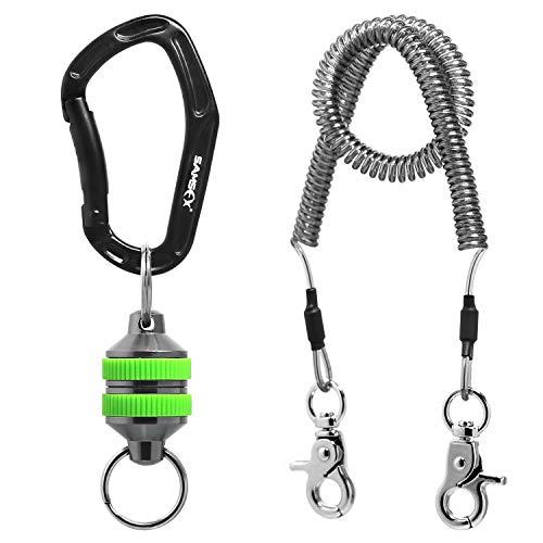 SAMSFX Magnetischer Netzauslöser für Angeln mit Spiralband, Grüne Griffe