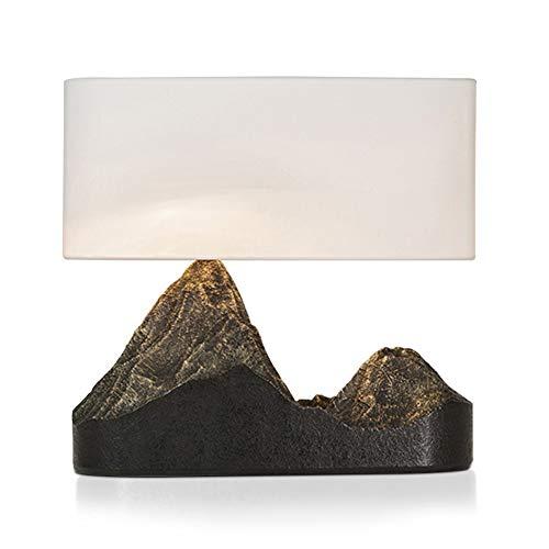SXNYLY Chino lámpara de cabecera Creativo Montaña Cuerpo de la lámpara LED de la lámpara de Lino Decorativo Pantallas de iluminación lámpara Cama Dormitorio Cama lámpara Simple de la pers