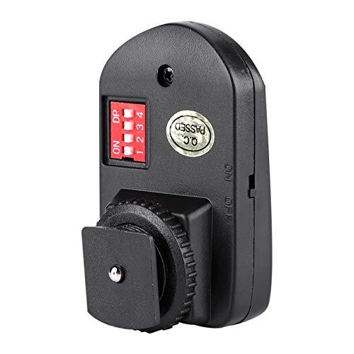 Rosvola Juego de Disparador de Flash, plástico Universal 433MHz, Negro, 1 Disparador de Flash inalámbrico, para Olympus Canon Pentax Nikon