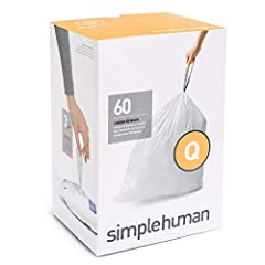 Custom fit liners: simplehuman liners are tailored to perfectly fit our cans so they don't slip and the bag stays completely hidden when the lid is closed Thick double seams: Extra durable plastic and thick double seams prevent rips and tears Conveni...