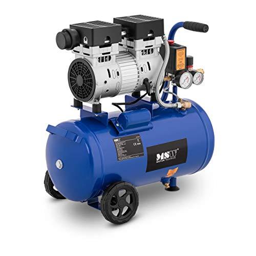 MSW Compressore Senza Olio Compressore Aria MSW-0AC750-24L (24 L, 750 W, 8 bar, 1.400 giri min, Alluminio)