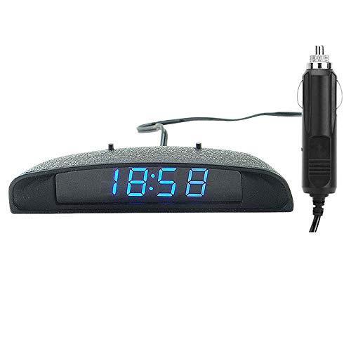PolarLander 12V 3 en 1 Digital LED Reloj del Coche Termómetro Voltímetro Monitor de Temperatura de Voltaje