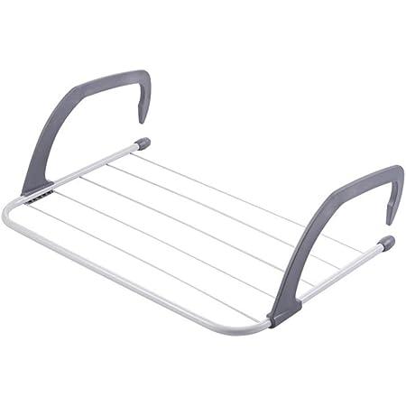 SHOPO (LABEL) Folding Rack for Socks Clothes Towel Dryer Hanger Shelf Drying Storage Radiator Metal Hook Large Clip