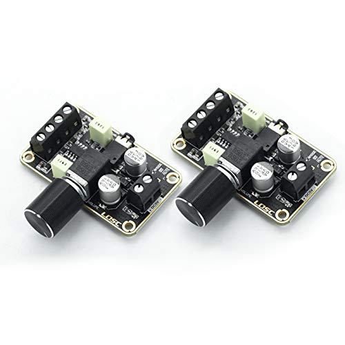 DEVMO 2 PCS Audio Amplifier Board,5W+5W Mini Amplifier Board PAM8406 DC 5V Digital Stereo Power Amp 2.0 Dual Channel Class D Amplify Module for Speaker Sound System DIY
