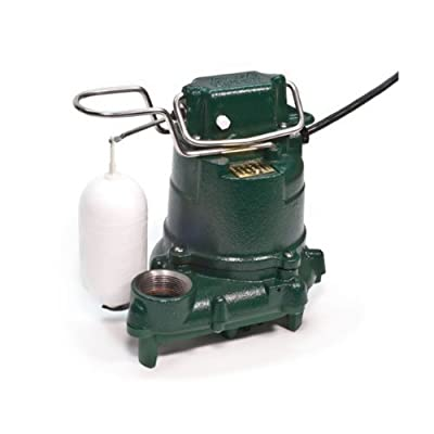 Zoeller 53-0016 115-Volt 0.3 Horse Power Model M53 Mighty-Mate Automatic Cast Iron Single Phase Submersible Sump/Effluent Pump