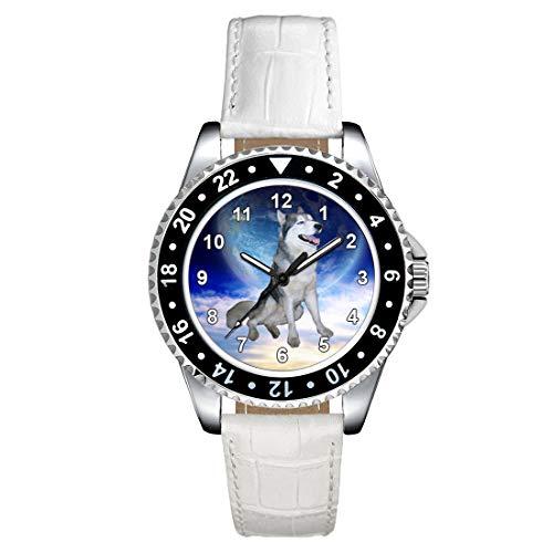 Timest - Husky - Orologio da polso da Donna con cinturino in Pelle bianco analogico al quarzo CSE038LW
