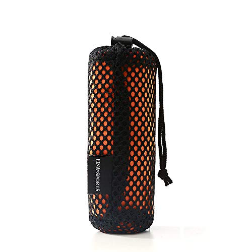 FINA Sports Microfiber Ultra Absorbent, Compact and Fast Drying Towel withCarry Bag and Open/Close SNAP for Yoga, Camping, Hiking and any Sports Activities Best Value Guaranteed