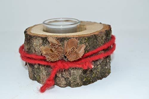 Teelicht aus Eiche Kerzenhalter 10 x 6 cm Teelichthalter Kerzenteller Holzdeko handmade made in austria