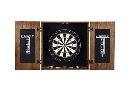 Hathaway Drifter Solid Wood Dartboard & Cabinet Set
