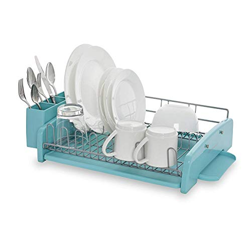 KitchenAid KCS896BXAQA 3-Piece Dish Rack, Aqua Sky
