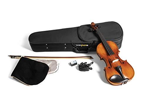 GEWApure Violingarnitur EW Ebenholz 3/4 spielfertig mit Kinnhalter, Feinstimmsaitenhalter, Bogen, Kolophonium, Etui mit Tragegurt