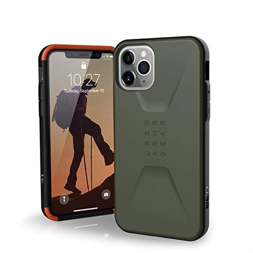 Urban Armor Gear Stealth Apple iPhone 11 Pro (5.8') Cover Protettiva Rugged Custodia (Compatibile Con il Qi Wireless, Ultra Slim Protezione Case, Antiurto) - verde scuro